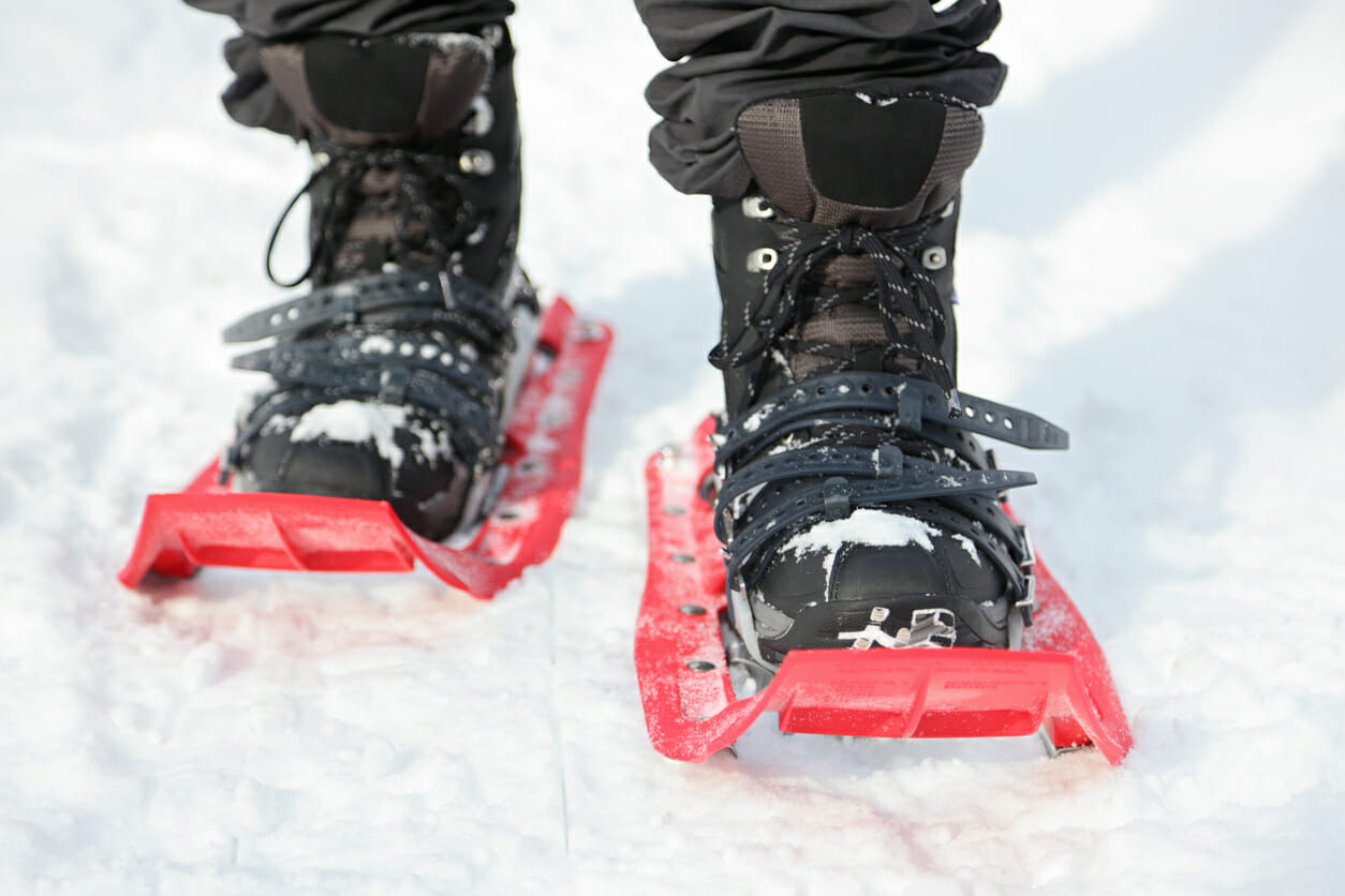 Try winter sports like snowshoeing